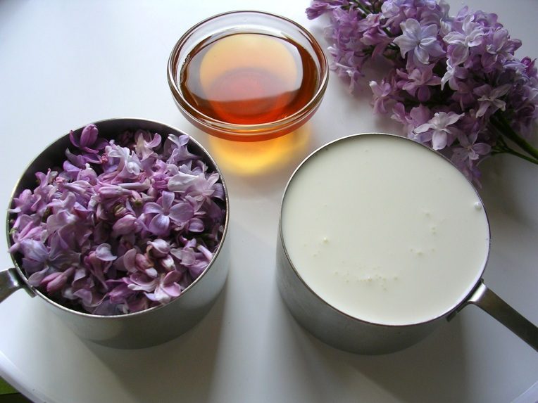 Lilac parfait ingredients