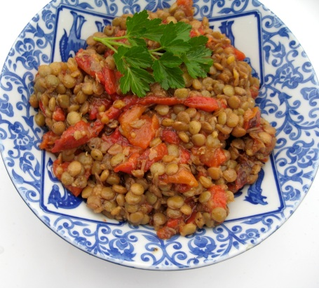 Lentil Bell Pepper Salad