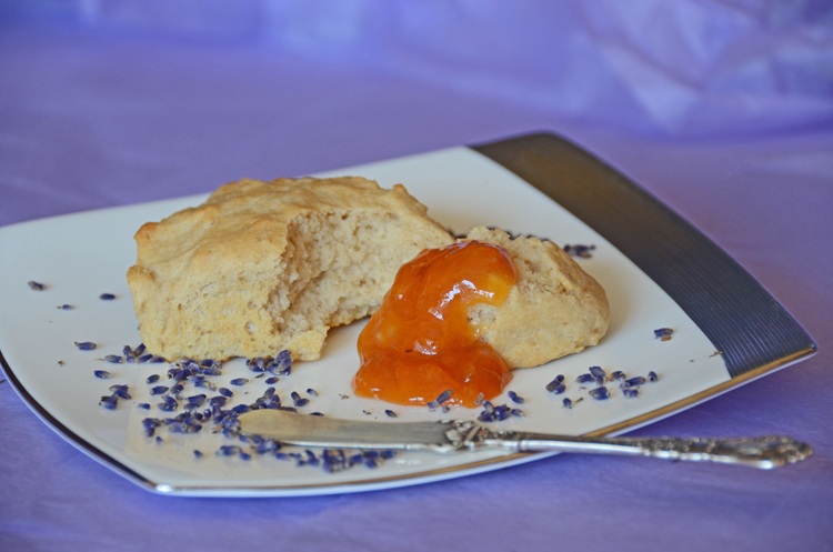 Apricot Lavender Jam with Scones